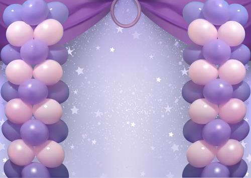 ballondeko karneval bühne luftballons