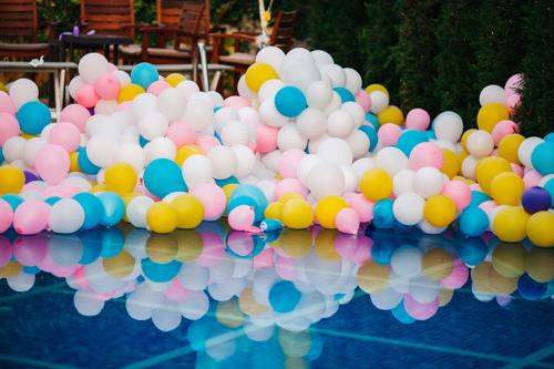 Tanzfläche Karneval Luftballons